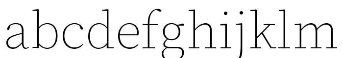 Source Serif Pro Light Italic Font LOWERCASE