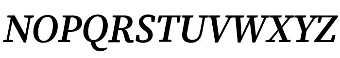 Source Serif Pro Semibold Italic Font UPPERCASE