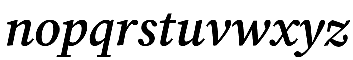 Source Serif Pro Semibold Italic Font LOWERCASE