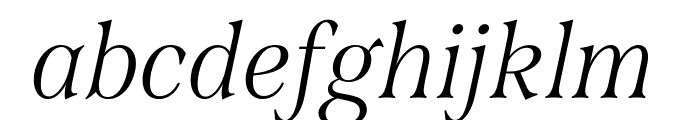 Span Compressed Light Italic Font LOWERCASE