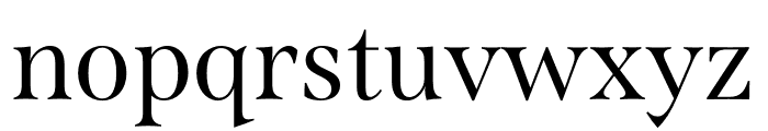 Span Compressed Regular Font LOWERCASE