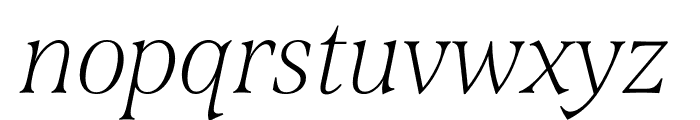 Span Compressed Thin Italic Font LOWERCASE
