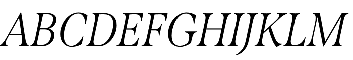 Span Condensed Light Italic Font UPPERCASE