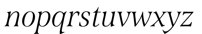 Span Condensed Light Italic Font LOWERCASE