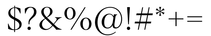 Span Condensed Light Font OTHER CHARS