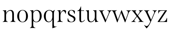 Span Condensed Light Font LOWERCASE