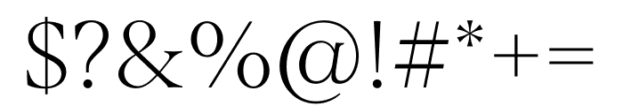 Span Condensed Thin Font OTHER CHARS