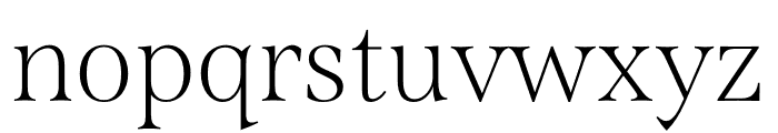 Span Condensed Thin Font LOWERCASE