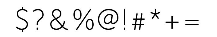 Speak Pro Regular Font OTHER CHARS