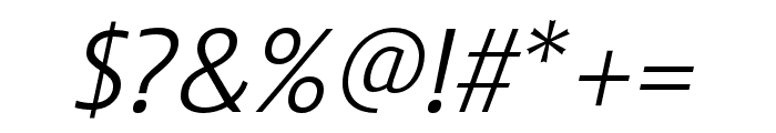 Stalemate Pro Light Italic Font OTHER CHARS