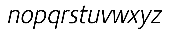 Stalemate Pro Light Italic Font LOWERCASE