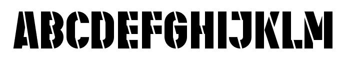 Stenciletta Left Bold Font UPPERCASE