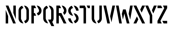 Stenciletta Left Regular Font UPPERCASE
