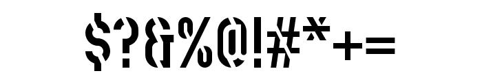 Stenciletta Solid Regular Font OTHER CHARS