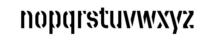 Stenciletta Solid Regular Font LOWERCASE