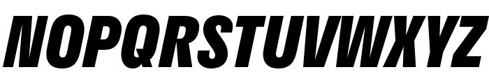 Stratos ExtraBold Italic Font UPPERCASE