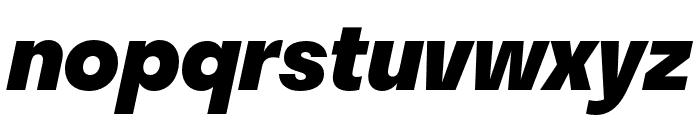 Stratos ExtraBold Italic Font LOWERCASE