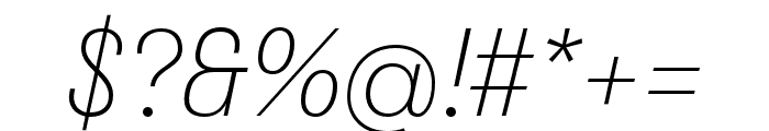 Stratos ExtraLight Italic Font OTHER CHARS