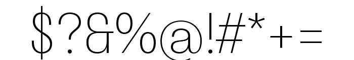 Stratos ExtraLight Font OTHER CHARS