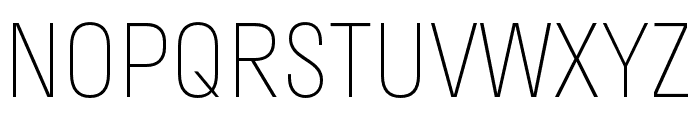 Stratos ExtraLight Font UPPERCASE