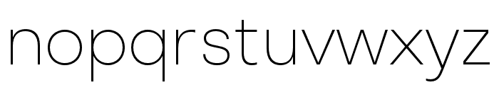 Stratos ExtraLight Font LOWERCASE