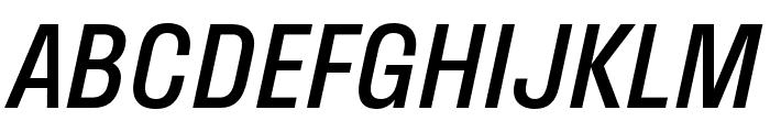 Stratos Italic Font UPPERCASE
