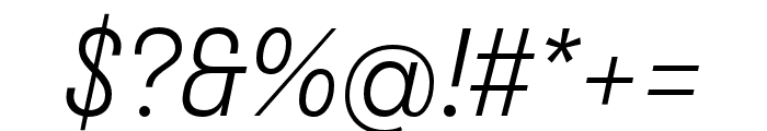 Stratos Light Italic Font OTHER CHARS