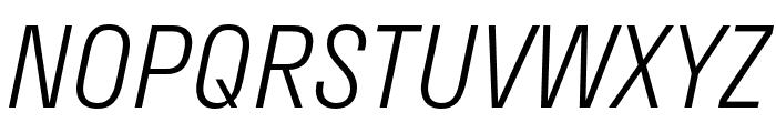 Stratos Light Italic Font UPPERCASE