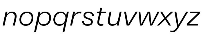 Stratos Light Italic Font LOWERCASE