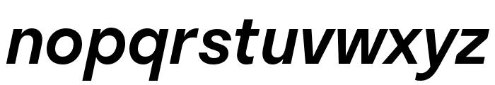 Stratos Medium Italic Font LOWERCASE