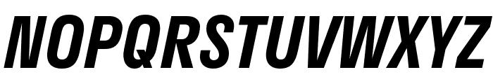 Stratos SemiBold Italic Font UPPERCASE