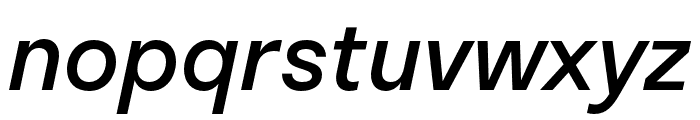Stratos SemiLight Italic Font LOWERCASE