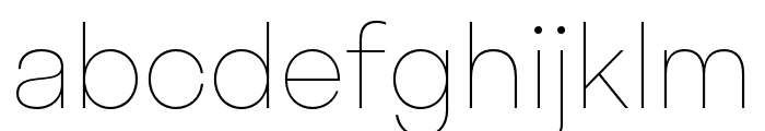 Stratos Thin Font LOWERCASE