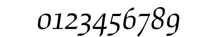Study Light Italic Font OTHER CHARS