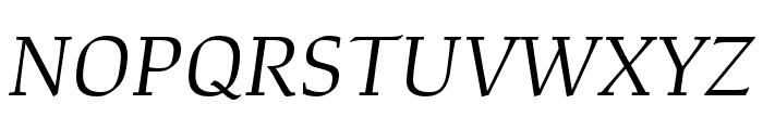 Study Light Italic Font UPPERCASE