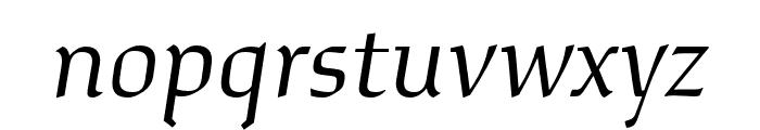 Study Light Italic Font LOWERCASE
