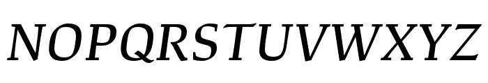 Study Medium Italic Font UPPERCASE