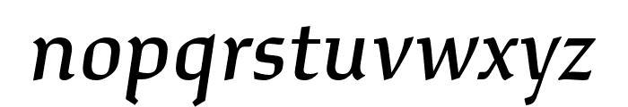 Study Medium Italic Font LOWERCASE