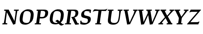 Study Semibold Italic Font UPPERCASE