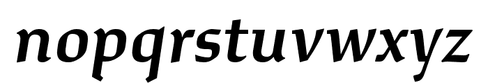Study Semibold Italic Font LOWERCASE