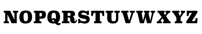 Superclarendon Black Font UPPERCASE