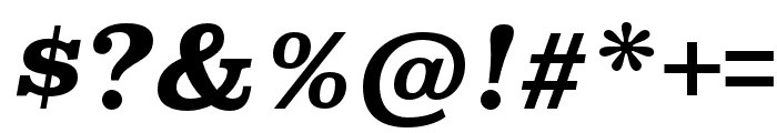 Superclarendon Bold Italic Font OTHER CHARS