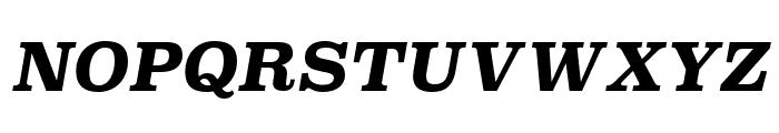 Superclarendon Bold Italic Font UPPERCASE