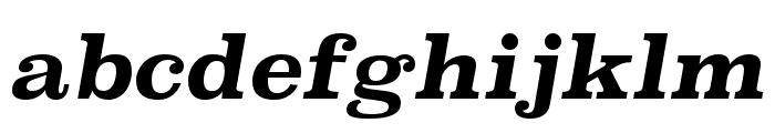 Superclarendon Bold Italic Font LOWERCASE