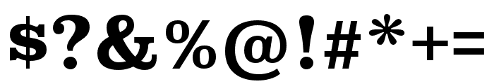 Superclarendon Bold Font OTHER CHARS