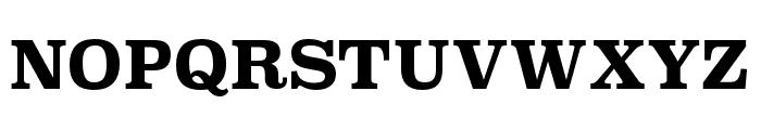 Superclarendon Bold Font UPPERCASE