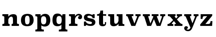 Superclarendon Bold Font LOWERCASE
