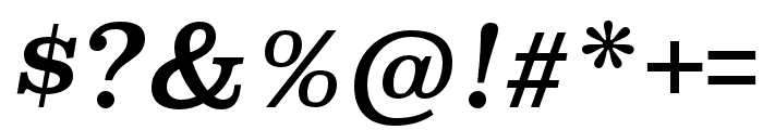 Superclarendon Italic Font OTHER CHARS