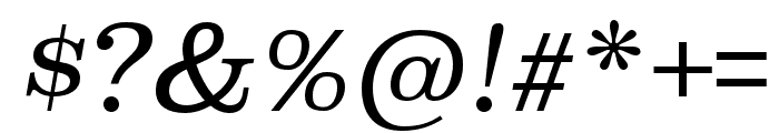 Superclarendon Light Italic Font OTHER CHARS