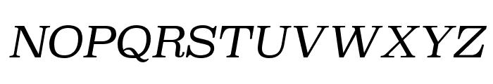 Superclarendon Light Italic Font UPPERCASE